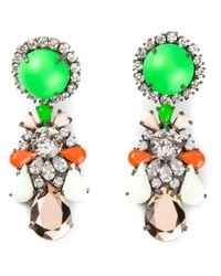 Shourouk | Metallic Marguerite Bambi Earrings | Lyst