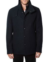 7 Diamonds | Blue 'palma' Wool Blend Coat With Removable Liner for Men | Lyst
