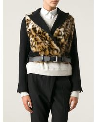 David Szeto - Black Leopard Panel Cropped Jacket - Lyst
