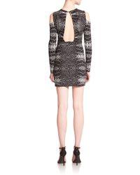Parker - Black Duffy Mixed Print Cutout Dress - Lyst