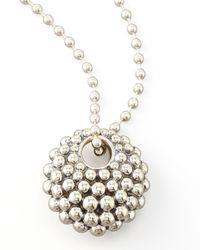 Lagos | Metallic Bold Caviar Pendant Necklace | Lyst