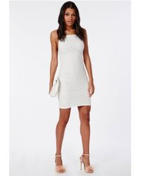Missguided - Lace Backless Mini Dress White - Lyst
