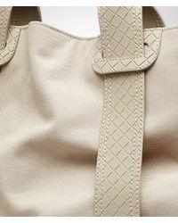 Bottega Veneta - Natural Sand Canvas Intreccio Scolpito Details Tote Bag for Men - Lyst
