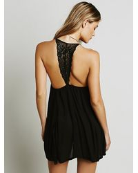 Free People | Black Treats To Be Tunic | Lyst