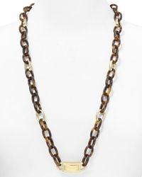 Michael Kors - Brown Long Link Necklace 30 - Lyst