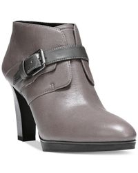 Franco Sarto | Gray Inkwell Booties | Lyst