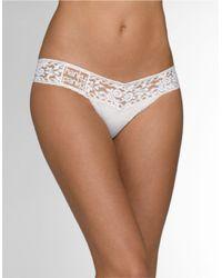 Hanky Panky | White Lace Trim Thong | Lyst