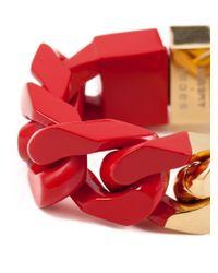 Sacai - Red Chain Link Bracelet - Lyst