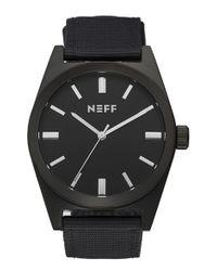 Neff - Black 'nightly' Round Watch for Men - Lyst