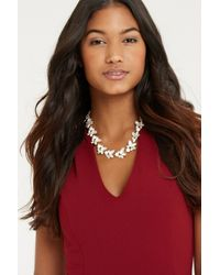 Oasis | Metallic Pretty Stone Flower Collar Neckace | Lyst