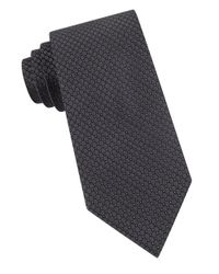Calvin Klein | Black Patterned Silk Tie for Men | Lyst