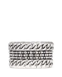 Philippe Audibert | Metallic Sasso' Chain Linear Pavé Bracelet | Lyst