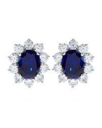 Carat*   Blue 2ct Fancy Oval Sapphire Stud Earrings   Lyst
