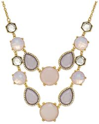 INC International Concepts | Purple Gold-tone Pink Multi-stone Bib Necklace | Lyst