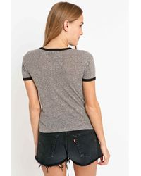 Truly Madly Deeply - Gray Desert Moon Cactus Ringer Tee In Grey - Lyst