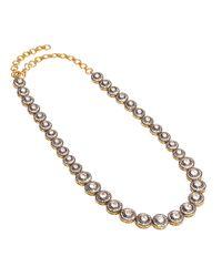 Kastur Jewels | Metallic White Sapphire Necklace | Lyst