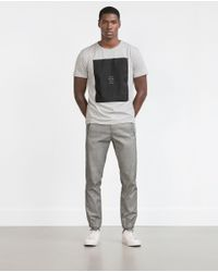 Zara | Black Short Sleeve T-shirt for Men | Lyst