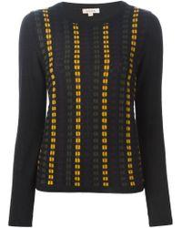 P.A.R.O.S.H. - Black Intarsia Knit Sweater - Lyst