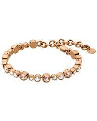 Dyrberg/Kern | Pink Dyrberg/kern Teresia Swarovski Crystal Bracelet | Lyst