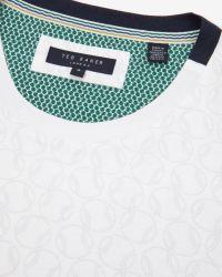 Ted Baker | White Ball Print T-shirt for Men | Lyst