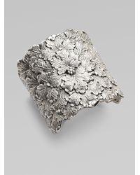 Buccellati | Metallic Sterling Silver Vine Leaf Cuff Bracelet | Lyst