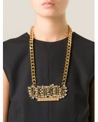 Versus | Metallic '' Necklace | Lyst