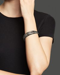 Roberto Coin | Metallic Ruthenium And Sterling Silver Medium Bangle | Lyst
