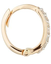 Kismet by Milka - Pink Rose Gold And White Diamond Mini Hoops - Lyst
