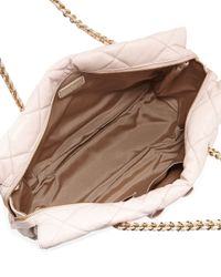 Ferragamo - Natural Ginette Vara Quilted Shoulder Bag - Lyst
