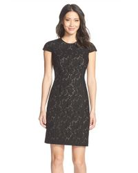 Marc New York | Black Lace Sheath Dress | Lyst