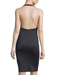Clover Canyon - Black Grommet Halter Sheath Dress - Lyst