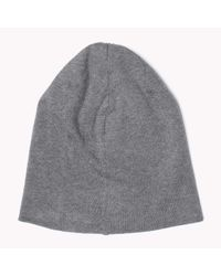 Tommy Hilfiger | Gray Cotton Beanie for Men | Lyst