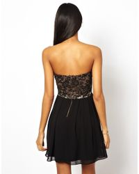 TFNC London - Black Prom Dress With Lace Bodice - Lyst
