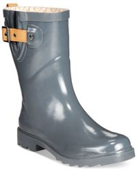 Chooka | Gray Top Solid Mid Rain Boots | Lyst