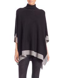 Splendid | Black Saddle Turtleneck Sweater | Lyst
