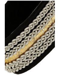 Maria Rudman - Black Embroidered Leather Bracelet - Lyst