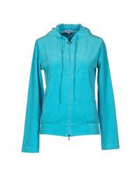 Blumarine - Blue Hooded Sweatshirt - Lyst