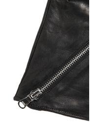 HUGO - Black Leather Gloves: 'dh 67' - Lyst