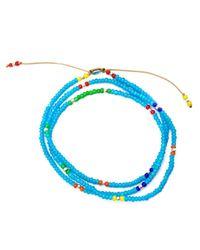 M Cohen | Blue Glass Bead Necklace for Men | Lyst