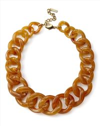 Jaeger - Brown Chunky Chain Necklace - Lyst