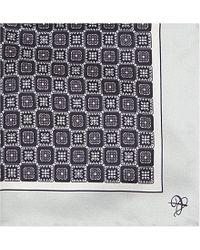 Canali | Metallic Mini Square-print Silk Pocket Square - For Men for Men | Lyst