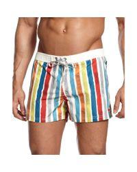 DIESEL | White Striped Short Swim Boxers for Men | Lyst
