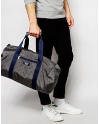 Original Penguin | Gray Duffle Bag With All Over Print for Men | Lyst