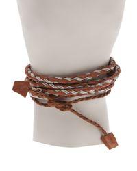 Maria Rudman - Brown Lasso Long Bracelet - Lyst