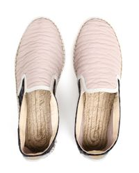 Prism - Gray Jacquard And Leather Espadrilles - Lyst