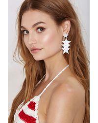 Nasty Gal | White Star Me Up Earrings | Lyst