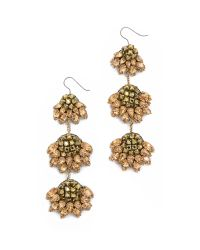 Vera Wang Collection | Metallic Jeweled Earrings - Gold | Lyst
