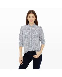 Club Monaco - Black Tabi Silk Shirt - Lyst