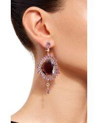 Sutra | Purple Sapphire Drop Earrings | Lyst