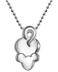 Alex Woo | Metallic Little Mouse Zodiac Pendant Necklace In Sterling Silver | Lyst